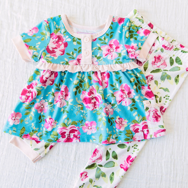 Dreamer 2 Piece - Swirly Floral Pinks