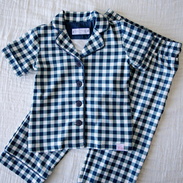 Cozy PJs - Navy Gingham