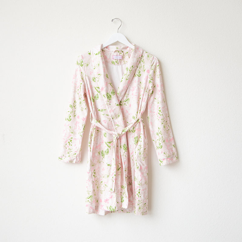 Classic Lounge Robe - Swifting Floral Dotty