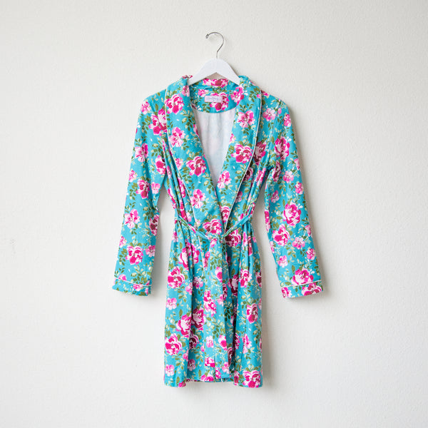 Classic Lounge Robe - Swirly Floral Pinks