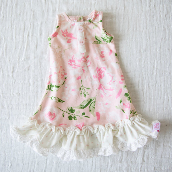 Doll Gown - Swifting Floral Dotty