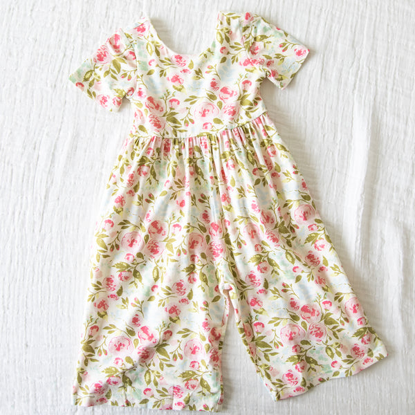 Leggy Short Sleeved Romper - Freshest Blooms