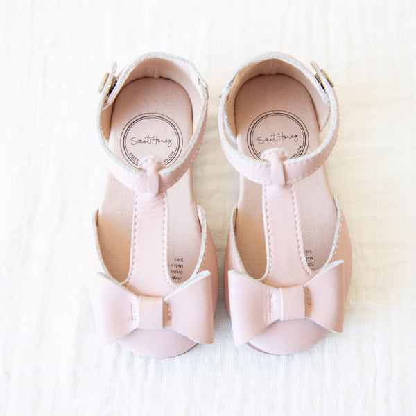 Snap T Strap Bow Mary Jane - Pink