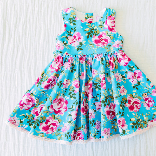 Hazel Dress - Swirly Floral Pinks