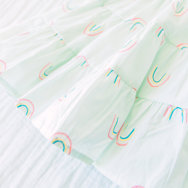 Tiered Flutter Dress - Over the Rainbow
