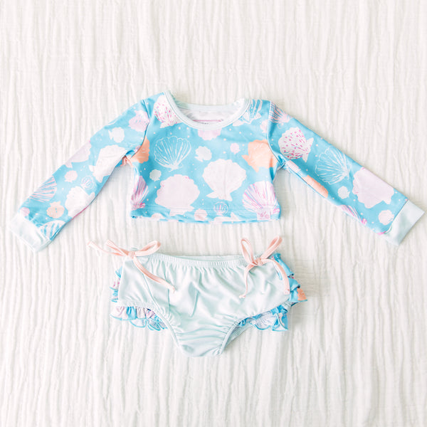 Micah Crop Rash Guard - Seashell