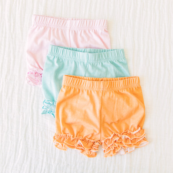 Ruffled Shorties 3 Pack – Under the Sea Solids