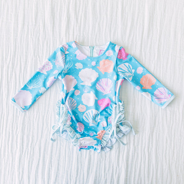Solid Rash Guard - Seashell
