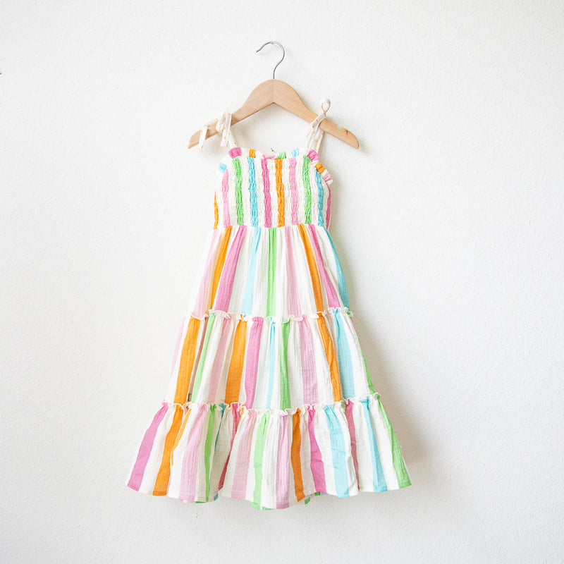 Beach Dress - Cheery Stripes