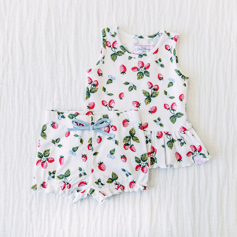 Peplum Set - Sweet Strawberry