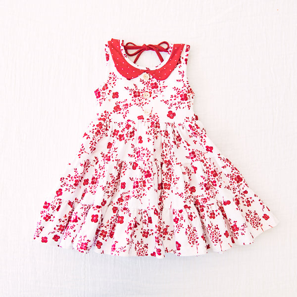 Flair Dress - Red Floral
