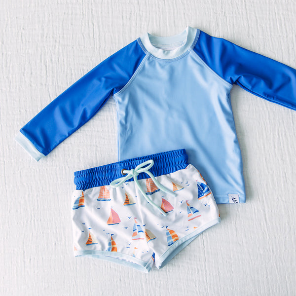 Boy's Swim Set - Sailboats