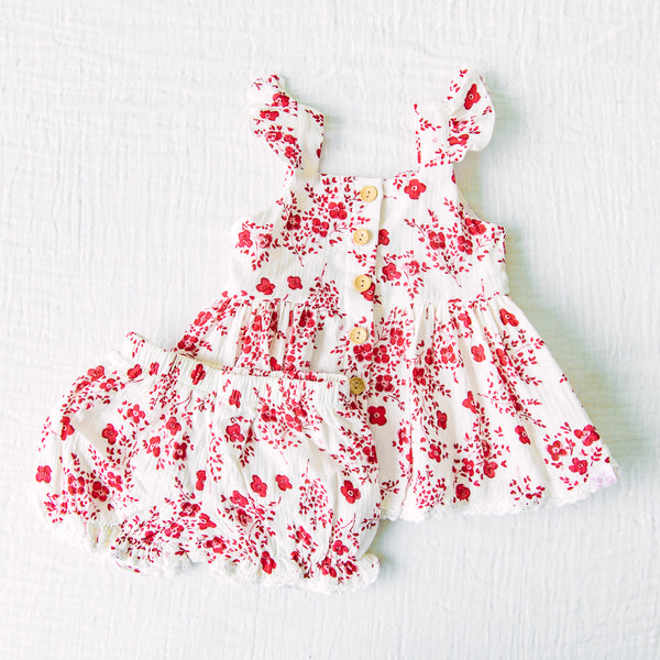 Beach Set - Red Floral