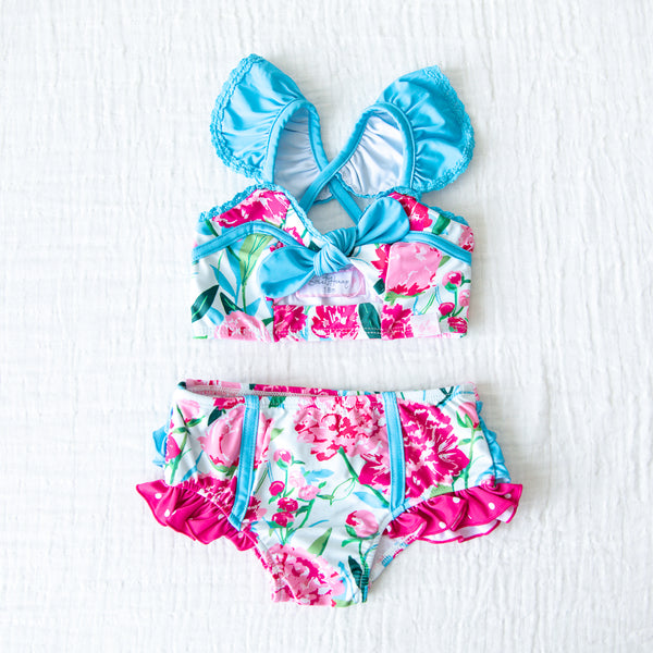 Retro Tankini Remix - Bright Peonies