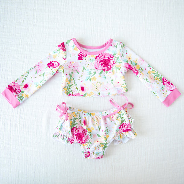 Crop Rash Guard - Flower Girl