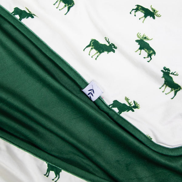 Dreamer Blanket - Green Moose