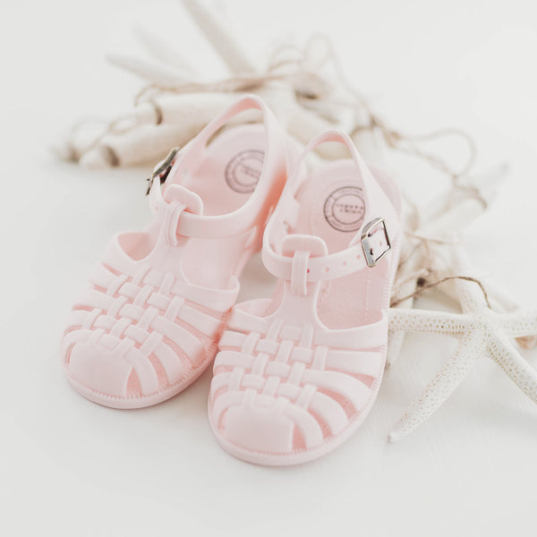 Matte Jelly Sandals - Light Pink