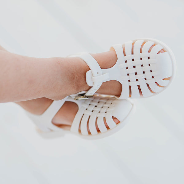 Matte Jelly Sandals - Ivory