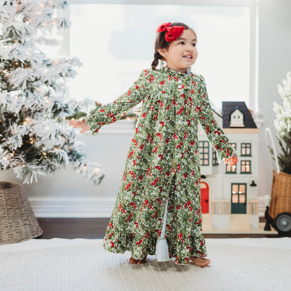 Sweet Ruffled Robe - Holiday Foliage