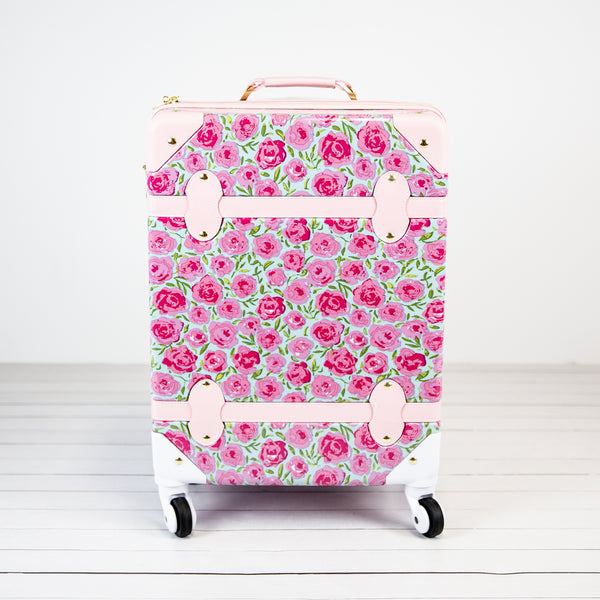 Lennon Traveling Luggage - Covered in Roses