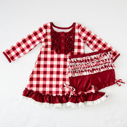 Dreamer Gown - Scarlet Check - Final Sale