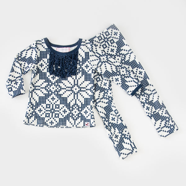 Dreamer Toddler 2-Piece - Sweater Snowflake Navy - Final Sale
