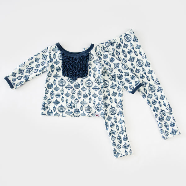 Dreamer Toddler 2-Piece - Vintage Ornaments Navy