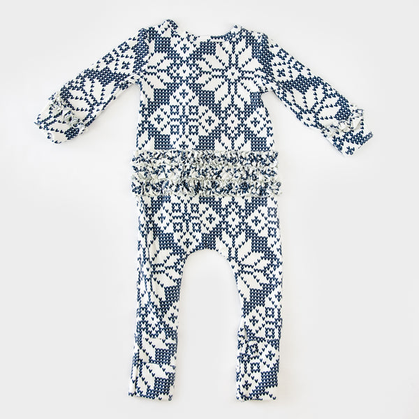 Dreamer Layette - Sweater Snowflake Navy