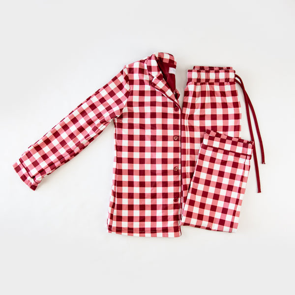 Women's Cozy PJ - Scarlet Check