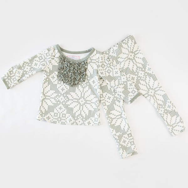 Dreamer Toddler 2-Piece - Sweater Snowflake Sage