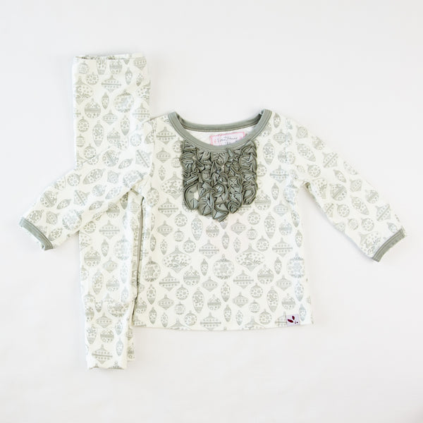 Dreamer Toddler 2-Piece - Vintage Ornaments Sage - Final Sale