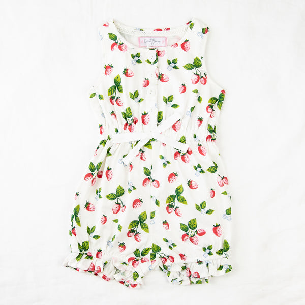 Recess Romper - Sweet Strawberry
