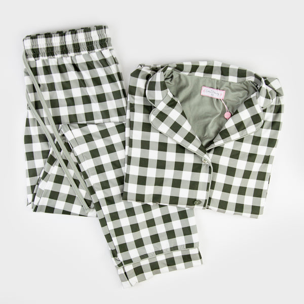 Women's Cozy PJ - Sage Check