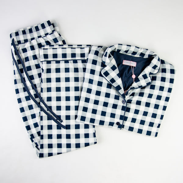 Women's Cozy PJ - Navy Check