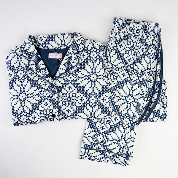 Women's Cozy PJ - Sweater Snowflake Navy