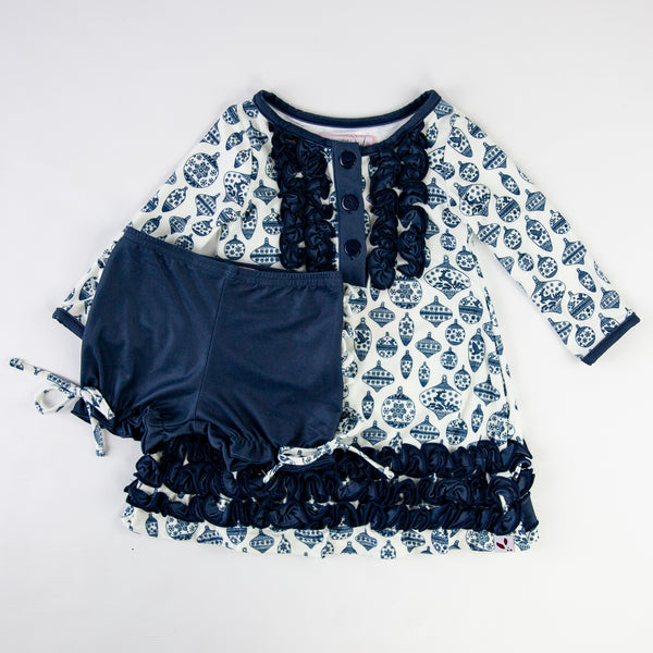 Dreamer Gown - Vintage Ornaments Navy