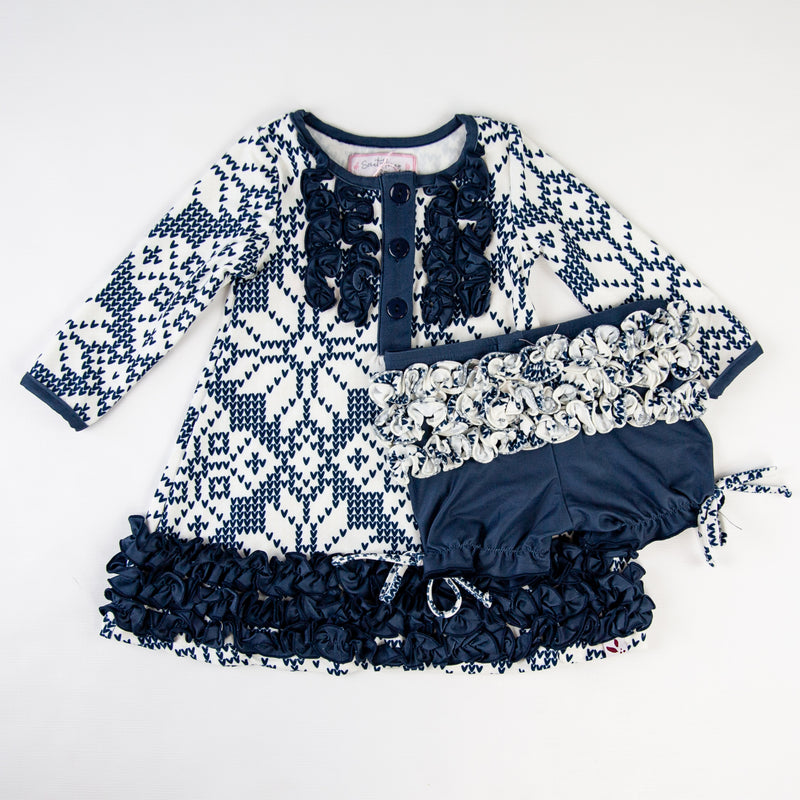 Dreamer Gown - Sweater Snowflake Navy - Final Sale