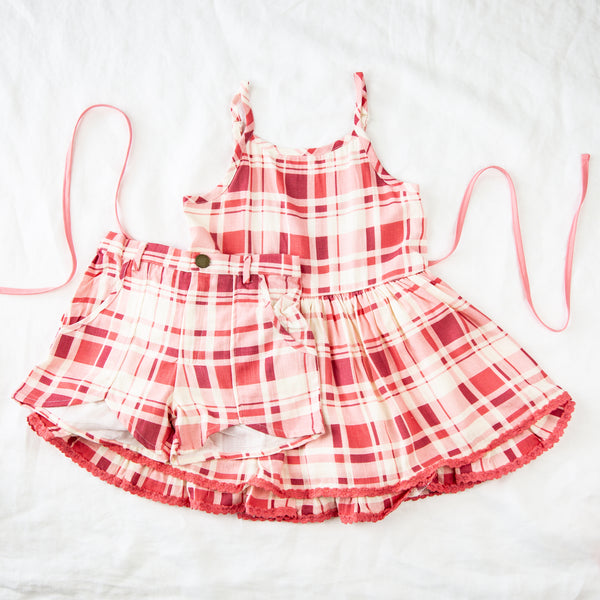 Belle Set - Red Plaid