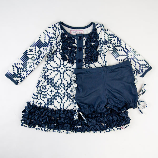 Dreamer Gown - Sweater Snowflake Navy