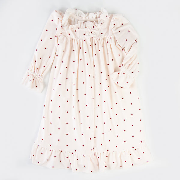 Sweet Ruffled Robe - Dotty