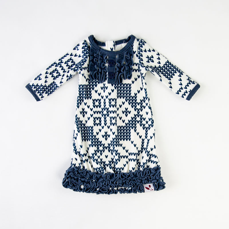 Doll Gown - Sweater Snowflake Navy
