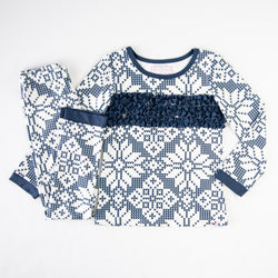 Dreamer 2-Piece - Sweater Snowflake Navy - Final Sale