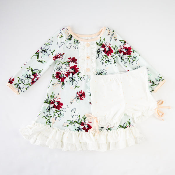 Dreamer Gown - Snowy Bouquet - Final Sale