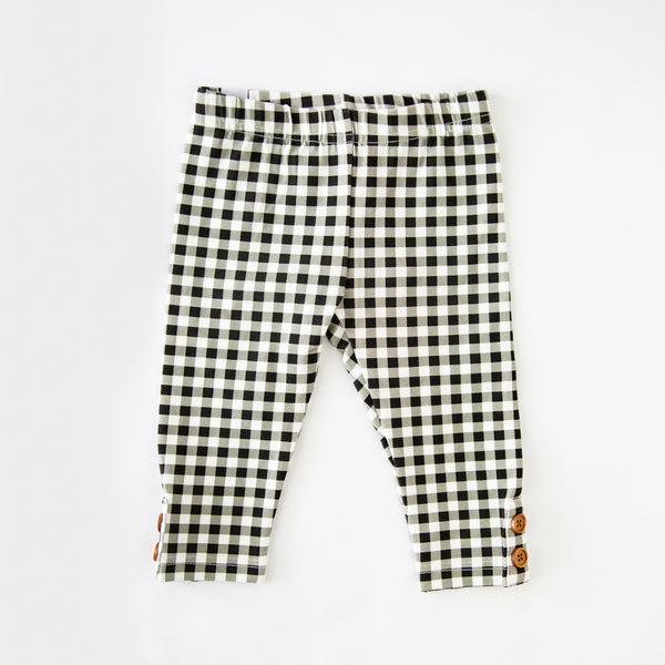 Frankie Leggings - Coal Check - Final Sale
