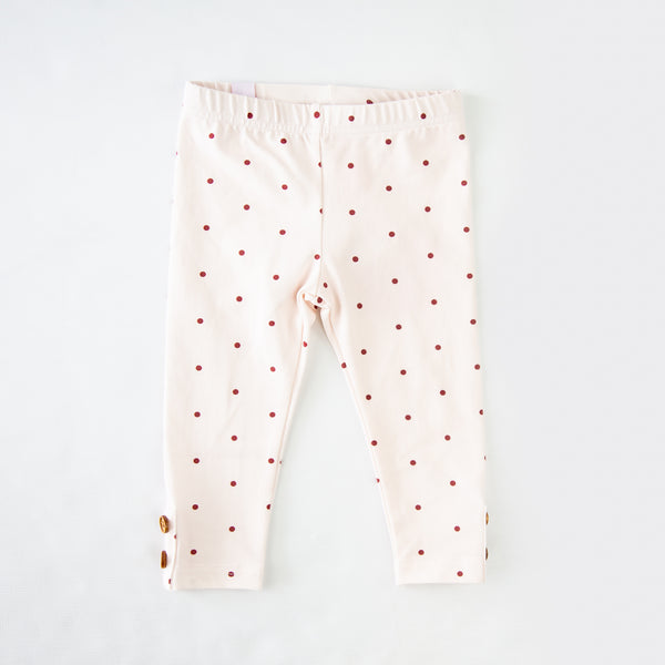 Frankie Leggings - Scarlet Dotty - Final Sale