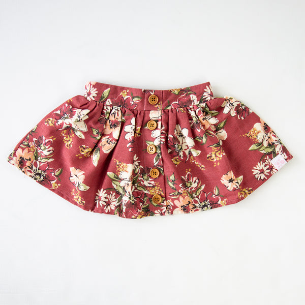Garden Skirt - Coneflower Scarlet - Final Sale