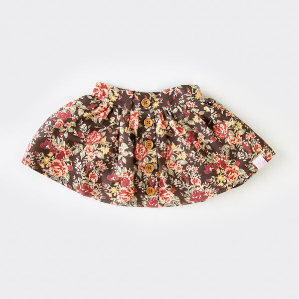 Garden Skirt - Floral Lane Brown - Final Sale