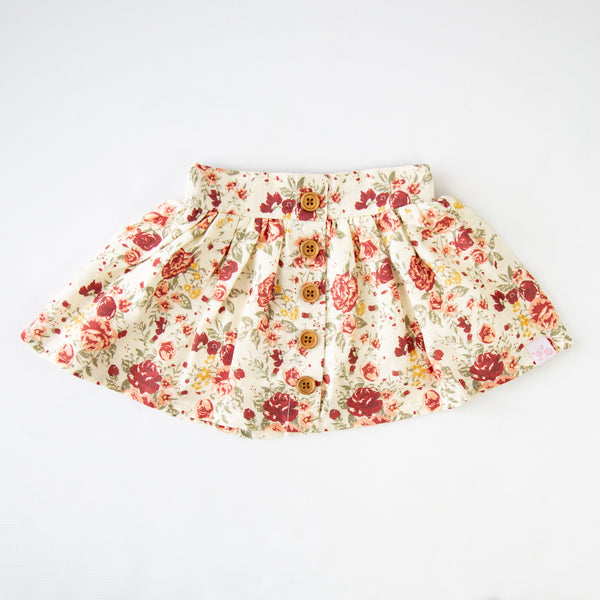 Garden Skirt - Floral Lane Cream - Final Sale