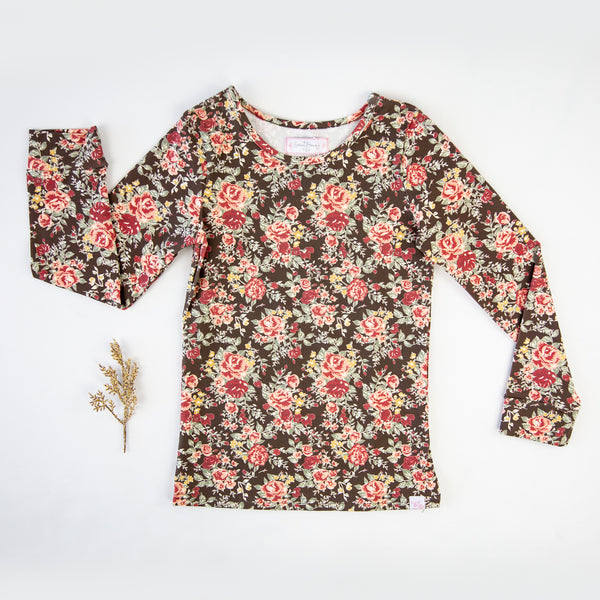 Lanie Layering Top - Floral Lane Brown - Final Sale