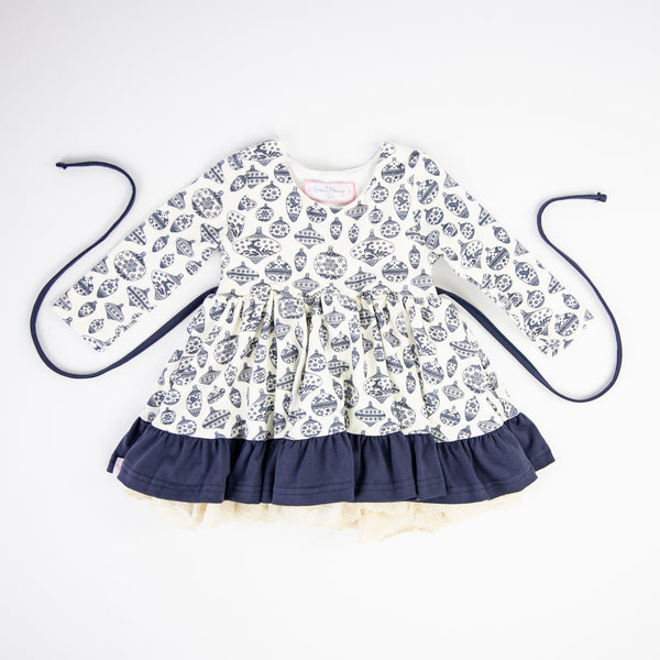 Flair Dress - Vintage Ornament Navy
